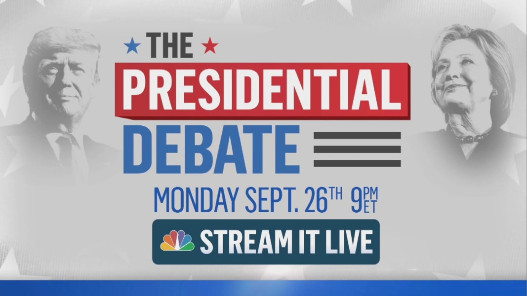 Watch The Presidential Debate On NBC Trump And Clinton NBC - Us election nbc map