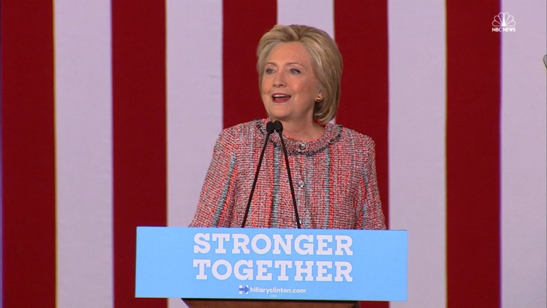 Hillary Clinton Calls Time Off Campaign Trail 'A Gift' - NBC News