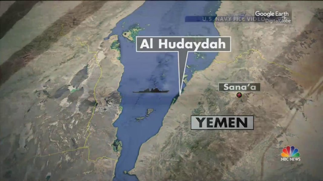 USS Mason Fired On Again Off Coast Of Yemen Officials NBC News - Us navy ship map
