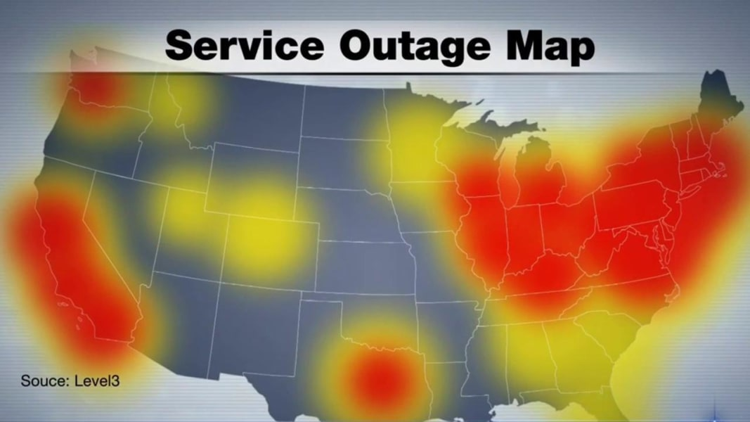 Who Shut Down The Internet Friday NBC News - Internet outage map of the us