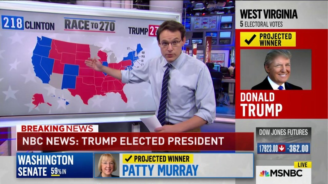 Election Donald Trump Wins The White House In Upset NBC News - Us election nbc map