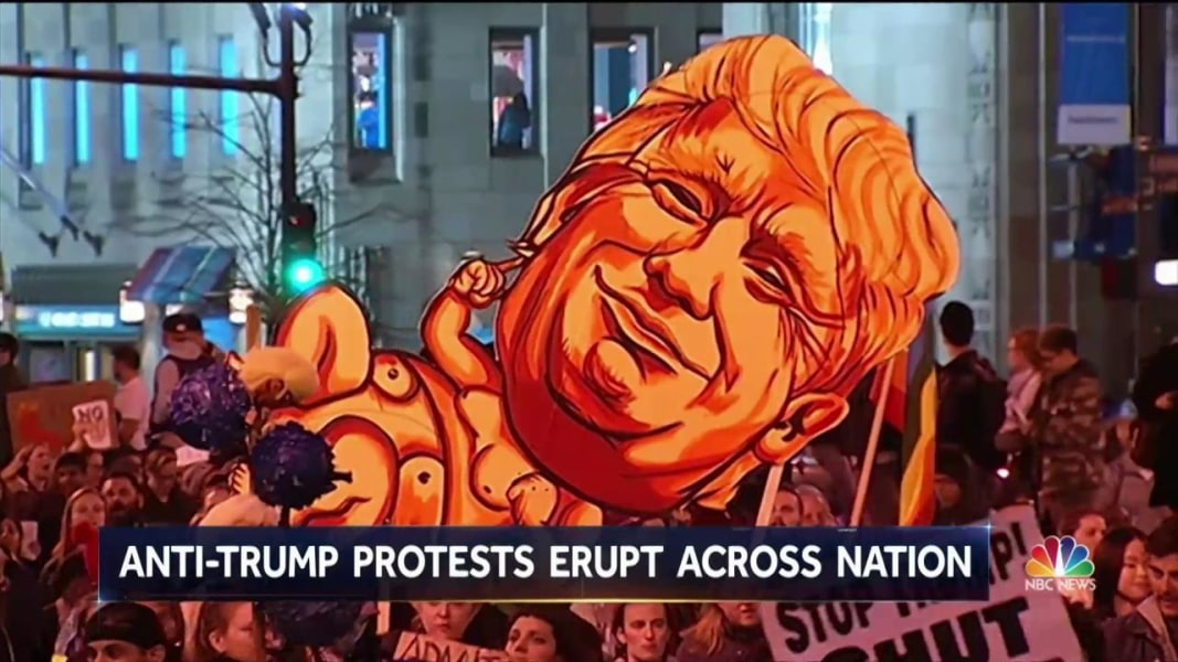 Nationwide Protests Continue As Obama And Trump Strike - Anti trump protests map of cities in us