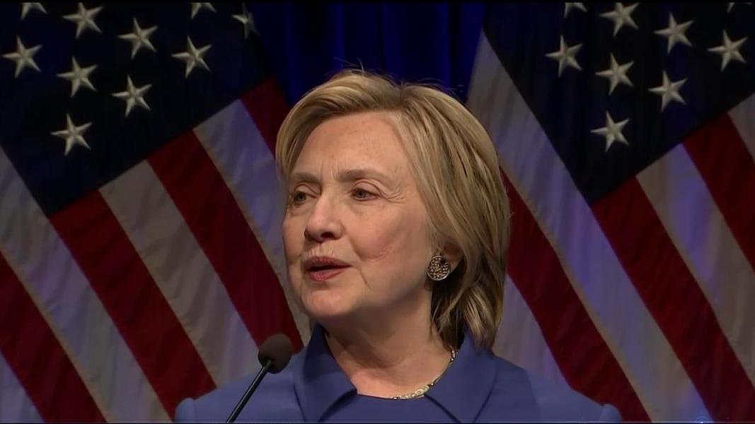 Clinton Makes First Post Election Speech As Democrats Scramble