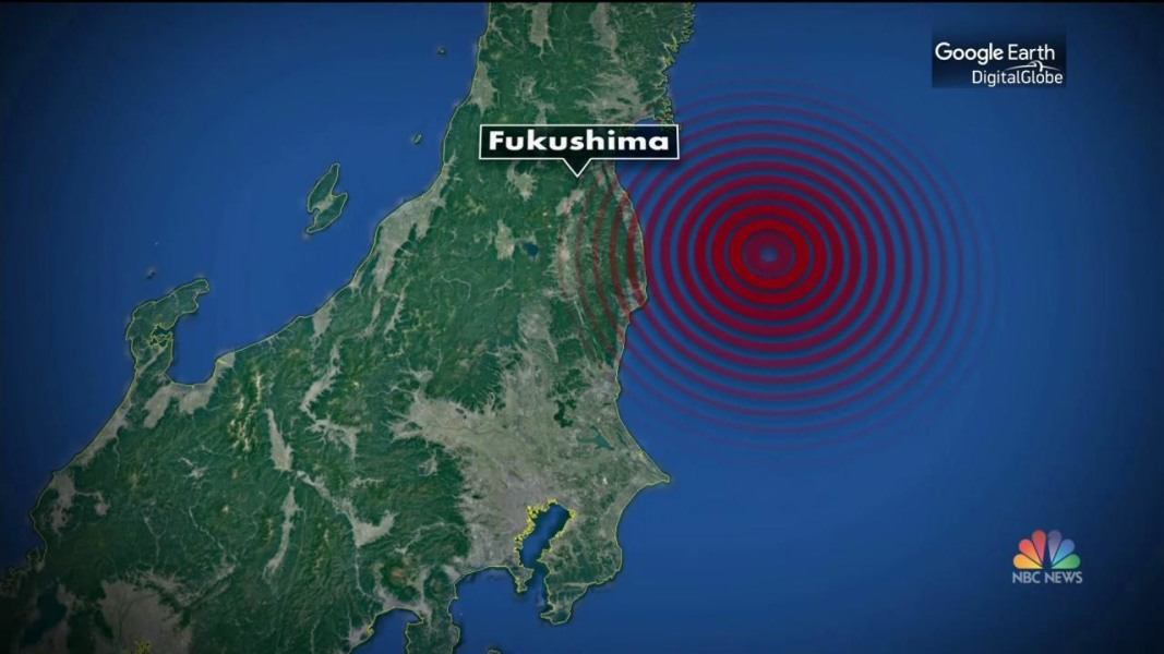 Major Quake Hits Near Fukushima Japan Site Of Tsunami - Japan map quake
