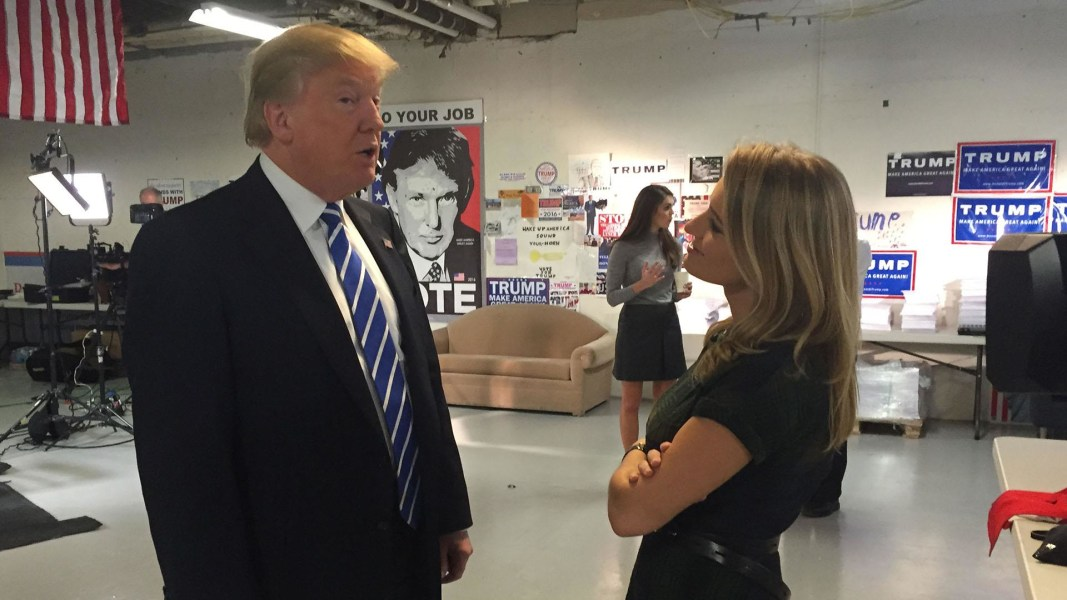 ?Image: Katy Tur and Donald Trump