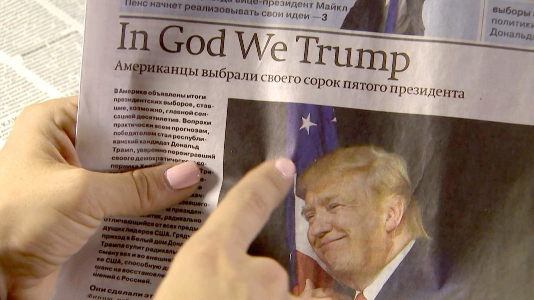 See How Trump S Election Dominates Russia S Newspapers