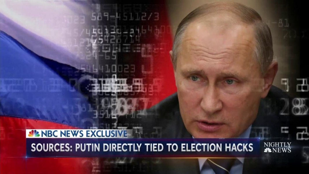 US Intel Directly Links President Putin To Campaign To Disrupt - Us election nbc map