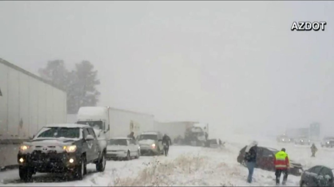 Holiday storm sweeps through Minnesota, Dakotas,; roads close after freezing rain