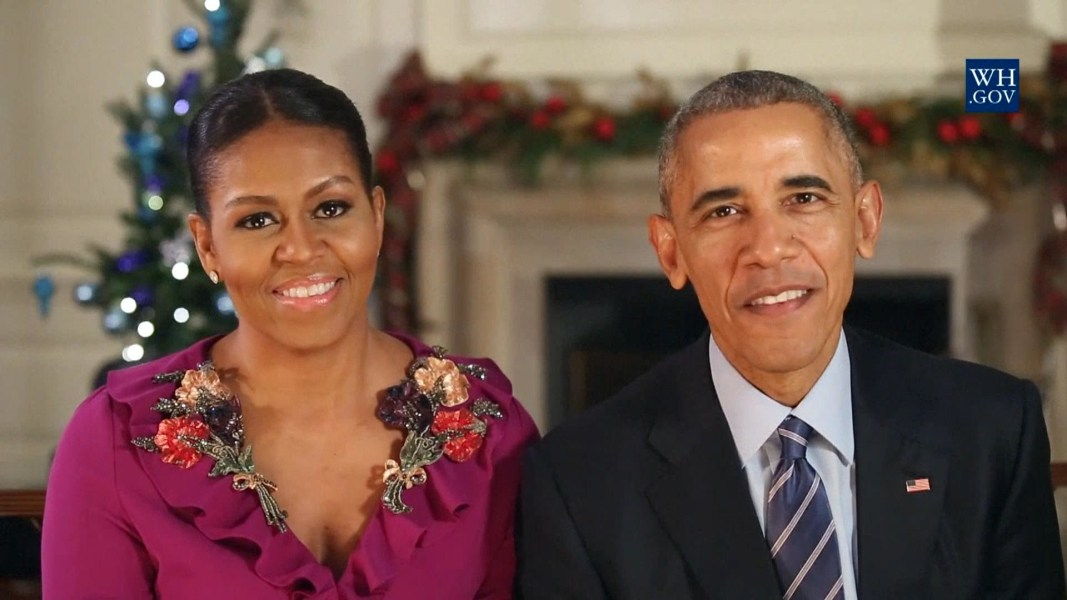 Merry Christmas Everybody': Obamas Share Final Holiday Address ...