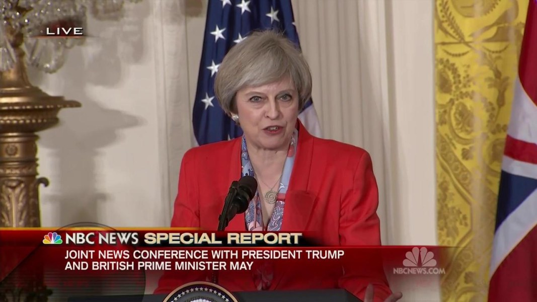 Trump Welcomes British PM Theresa May for First Foreign Visit