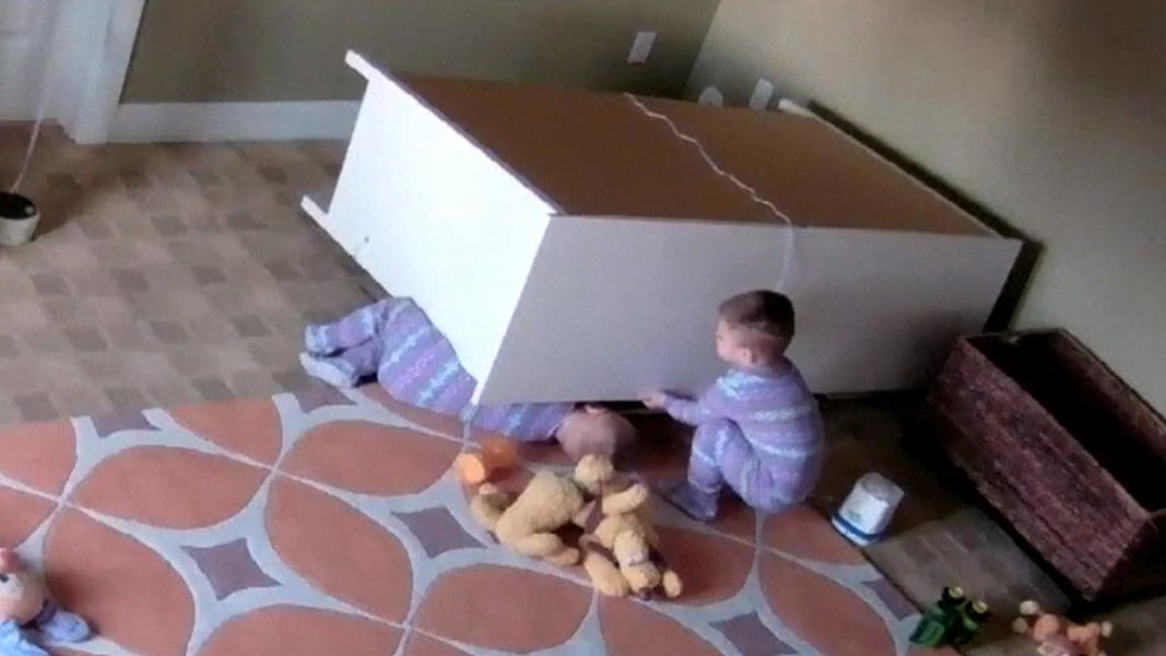 Mother Put Her Twins To Bed And