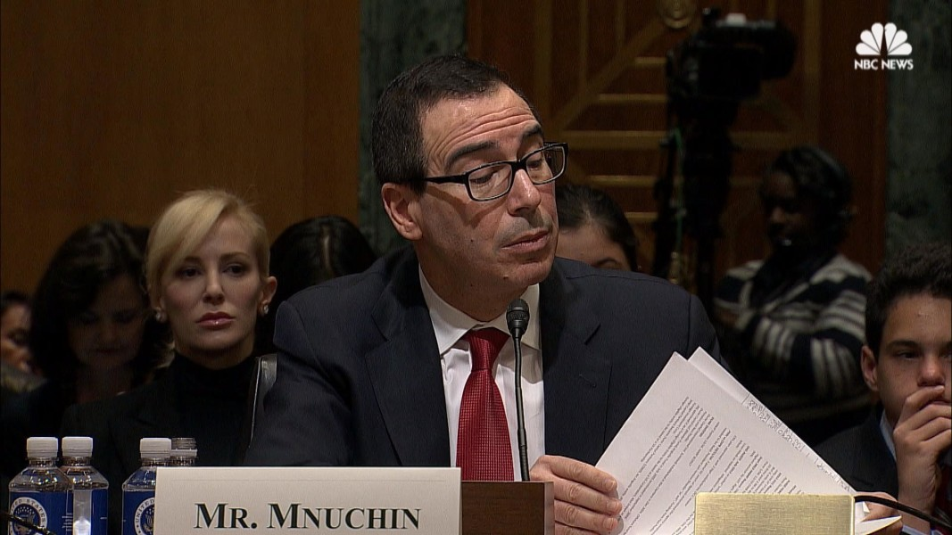 Watch Live Stream: Steve Mnuchin Faces Senate Vote