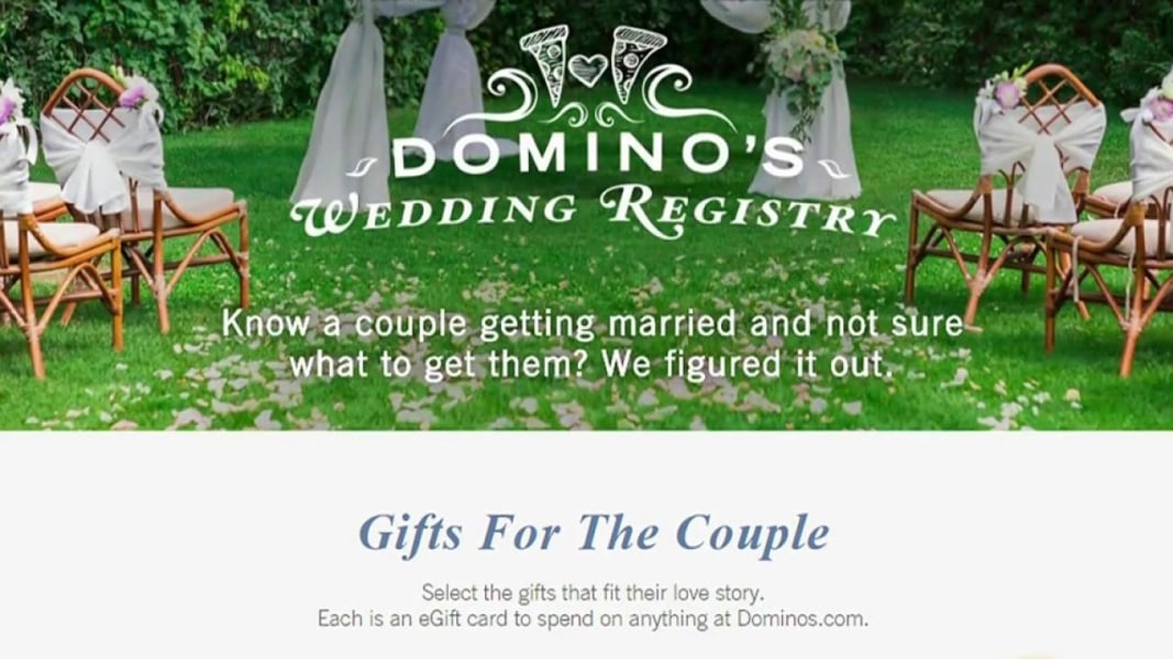 Domino's Pizza Launches A Wedding Registry