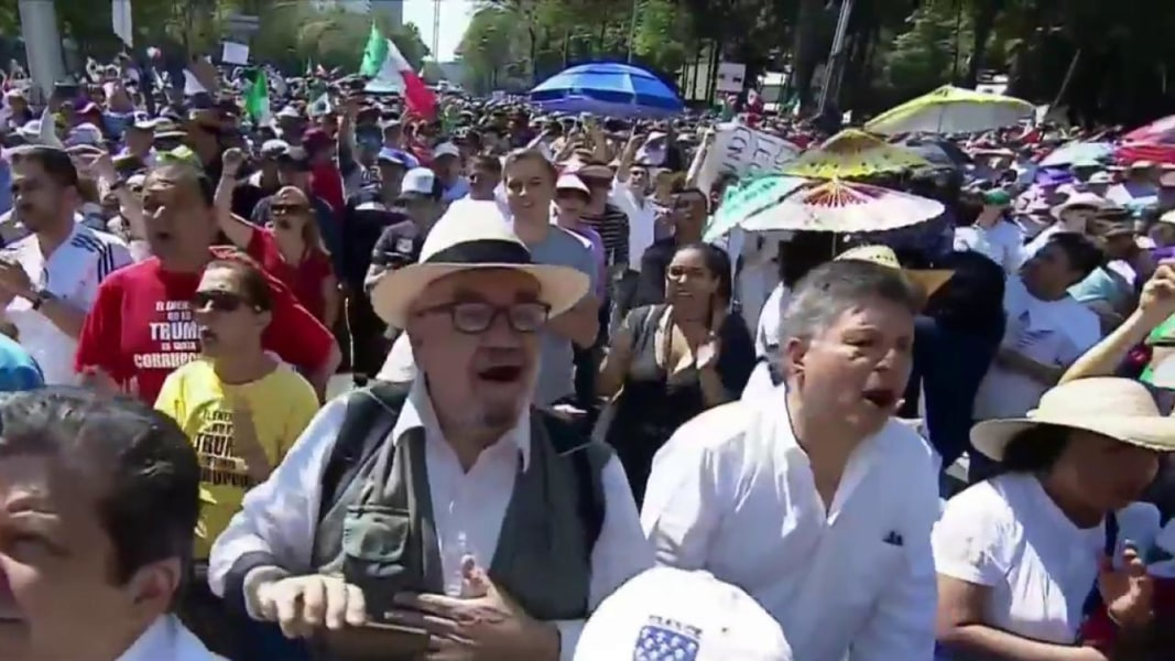 Thousands March Against Trump In Mexico City: 'Pay For Your Own Wall!'