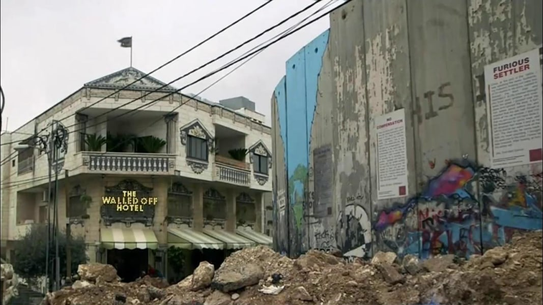 How To Make 2017 Best Nine On Instagram >> British Street Artist Banksy's Latest Creation: The Walled Off Hotel with 'Worst View in the ...