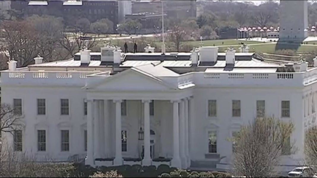 Person arrested on White House grounds after scaling fence