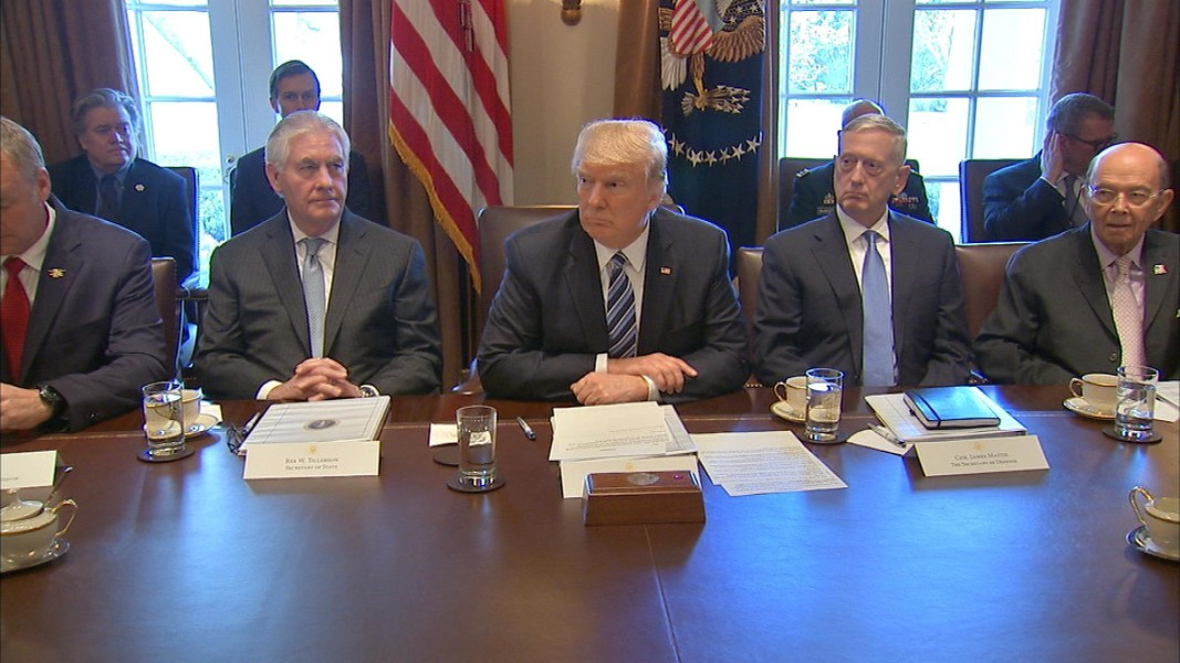 Trump Holds First Cabinet Meeting, Promises 'To Do a Fantastic Job ...