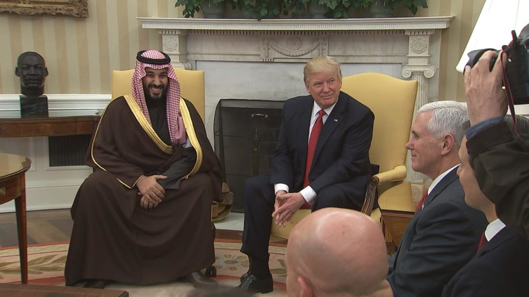 President Trump and newly crowned Saudi prince share hardline views on Iran
