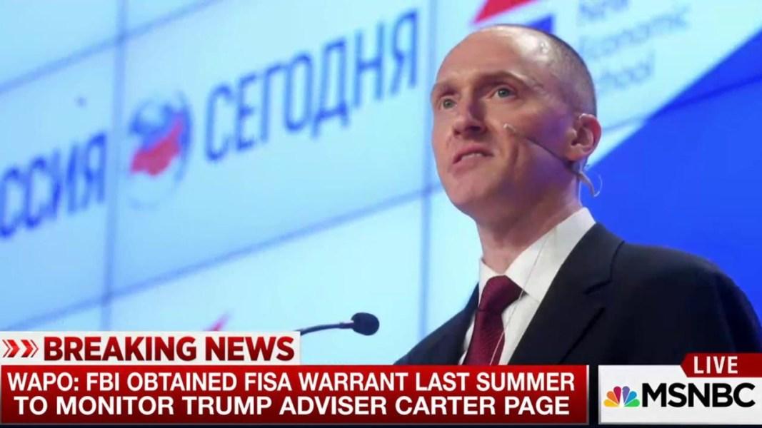 """Képtalálat a következőre: """"FBI obtained FISA warrant to monitor Trump adviser Carter Page"""""""