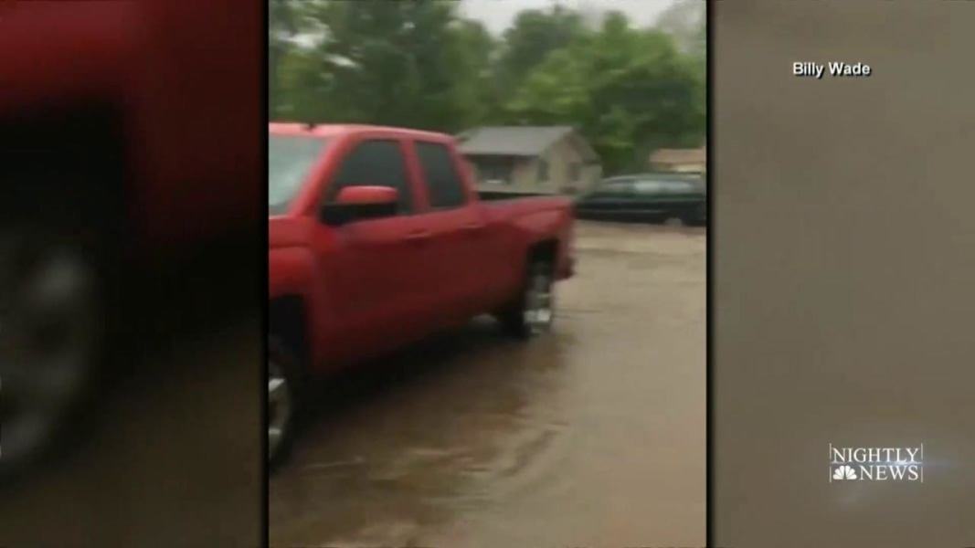 Several Deaths And Injuries Ensue After Heavy Flooding And Tornados Strike Texas
