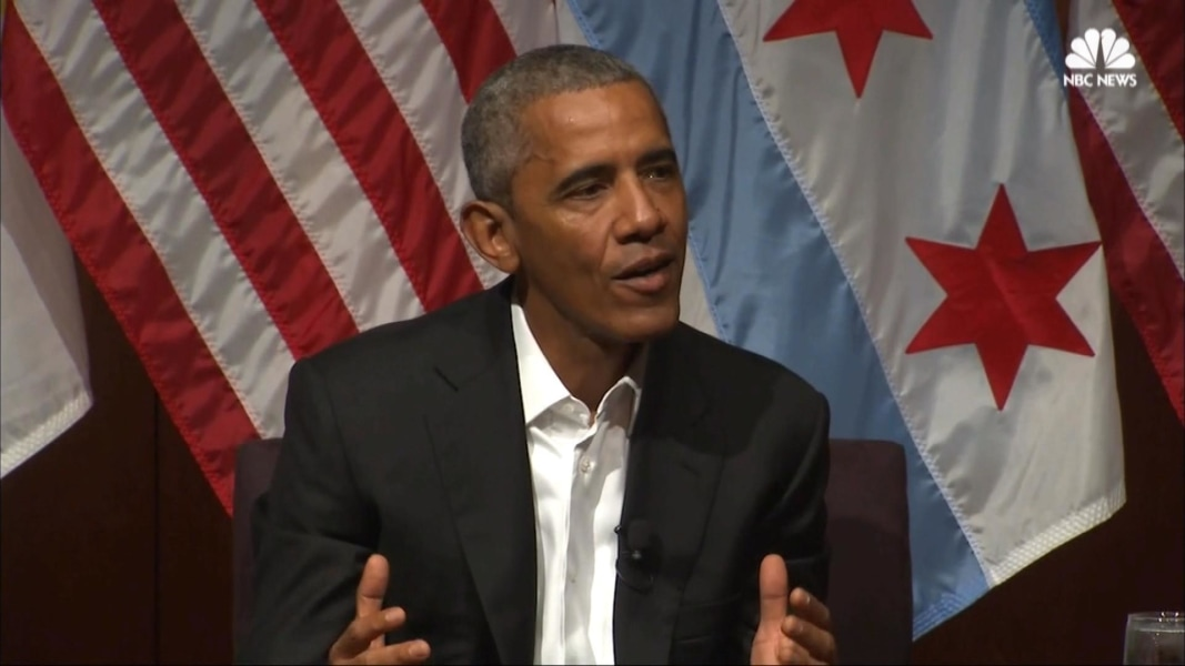 Obama Makes First Public Speech Since Leaving Office