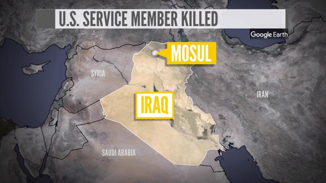 US service member killed in blast near Mosul, Iraq
