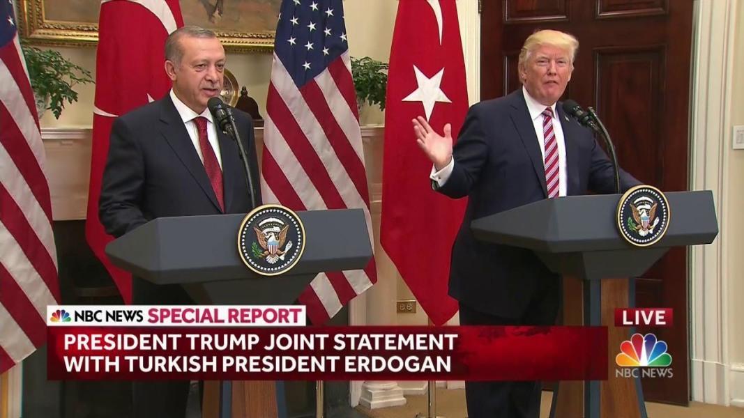 Trump, Erdogan Avoid Discord Over Kurds in White House Talks