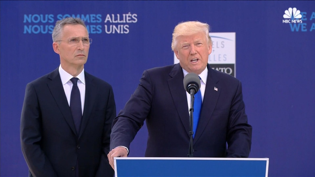 Trump: NATO Allies Need To Pay Their Fair Share