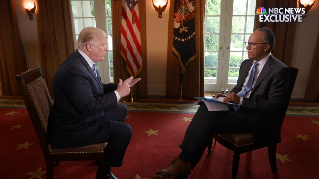 Image result for photo of trump and lester holt