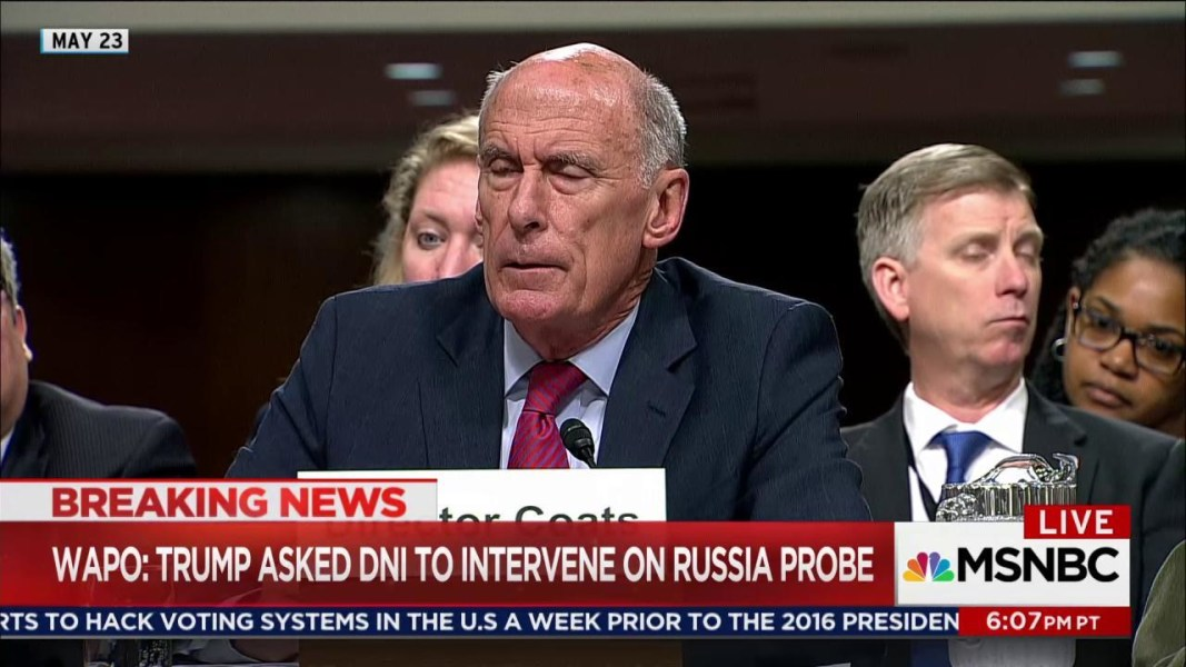 Top intelligence officials deny receiving pressure from US President Donald Trump