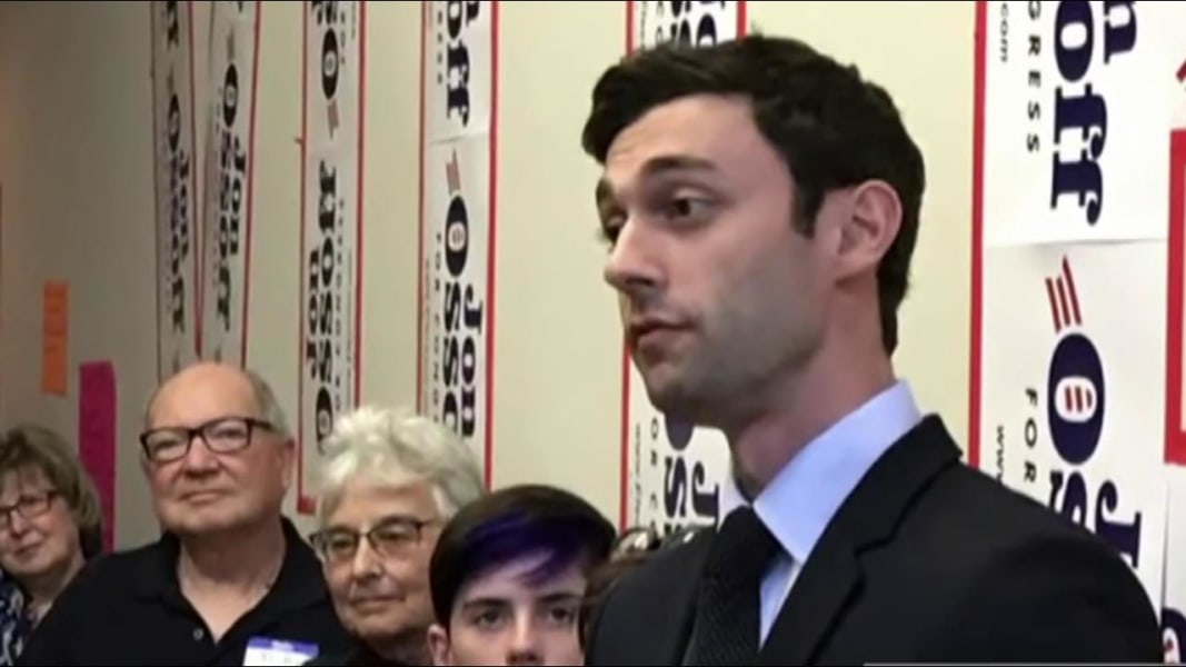 Ossoff criticizes ad on Scalise shooting