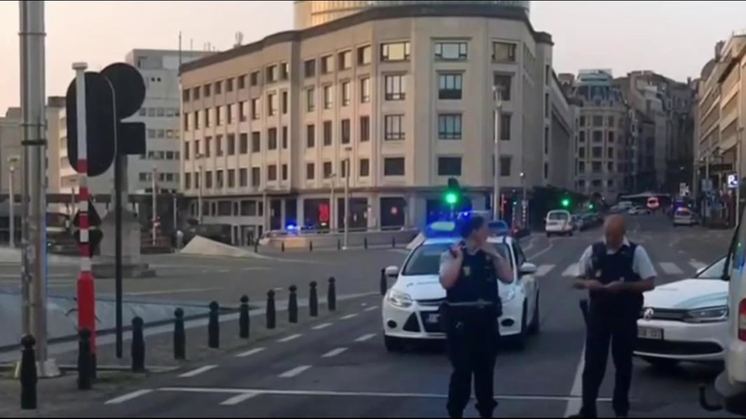 Explosive noises heard at Brussels train station