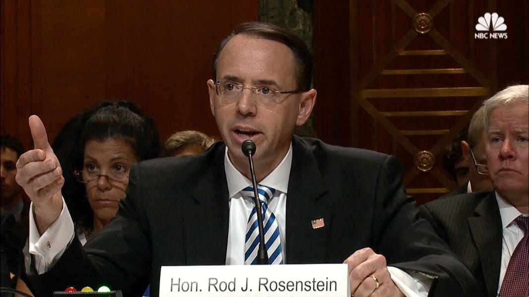 Rod Rosenstein Says There's No Reason to Fire Mueller