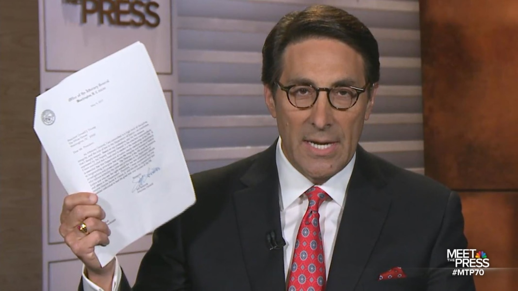Trump's lawyer says President not informed he is under investigation