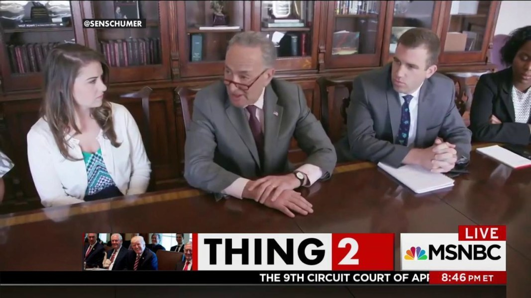 T1/T2: Schumer perfectly lampoons Trump cabinet meeting - NBC News