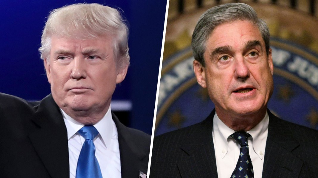 Image result for Images of Trump vs Robert Mueller