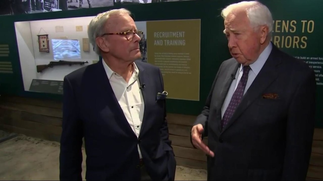 Tom Brokaw Visits the National World War II Museum in New Orleans