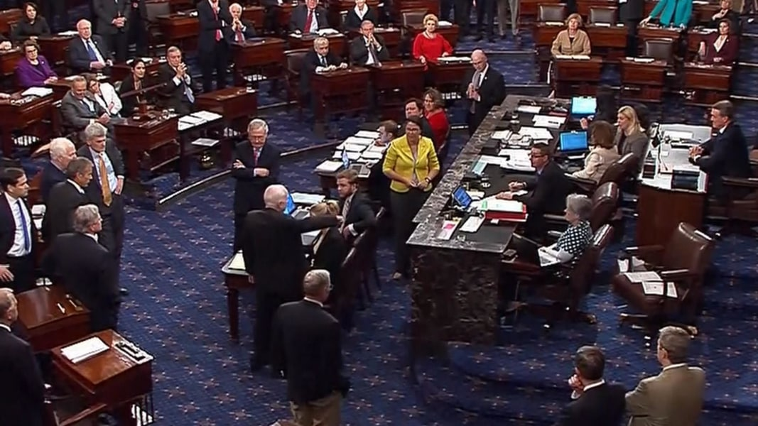 Image result for photos of the senate working on skinny obamacare