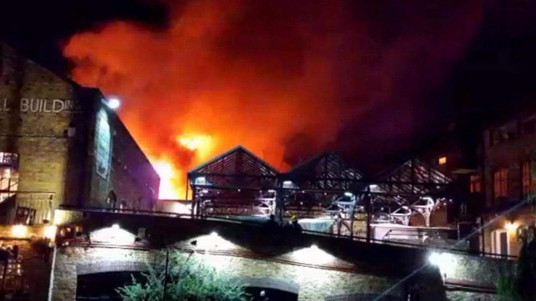 Αποτέλεσμα εικόνας για London's famed Camden Market destroyed by massive blaze