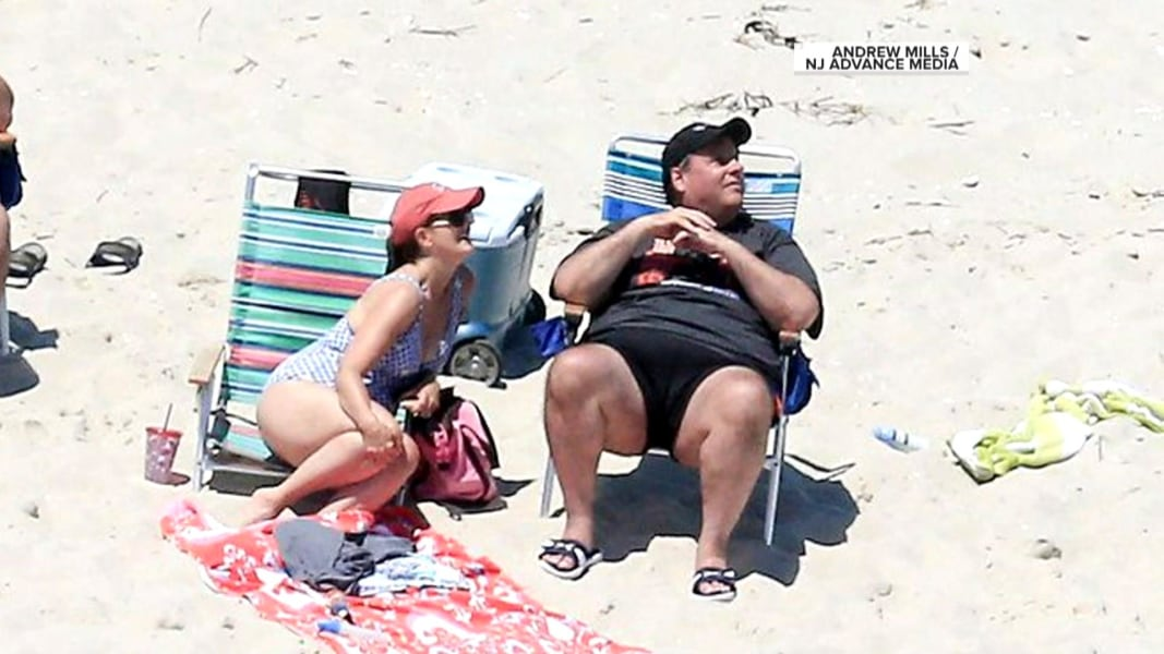 N.J. Gov. Chris Christie Pushes Back After Being Spotted on Beach ...