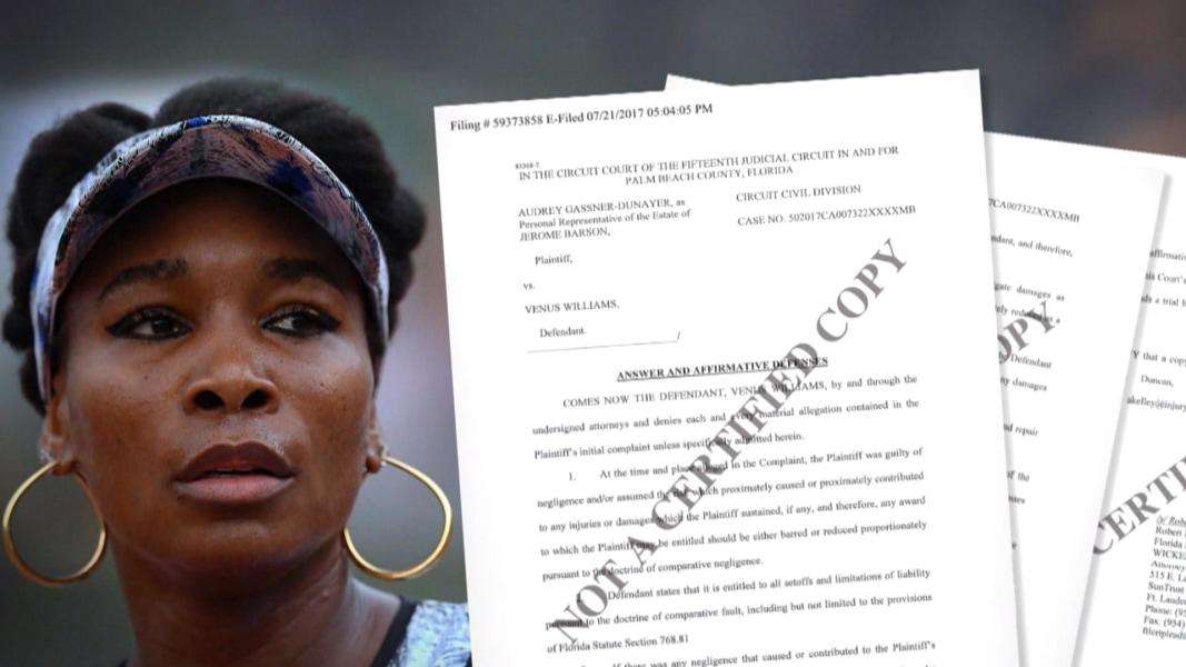 Venus Williams responds in wrongful death lawsuit over car
