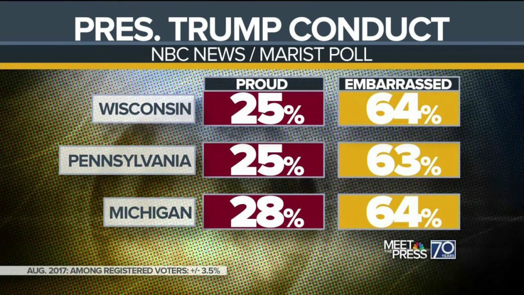 Majority of voters in 3 key states find President Trump's conduct 'embarrassing'