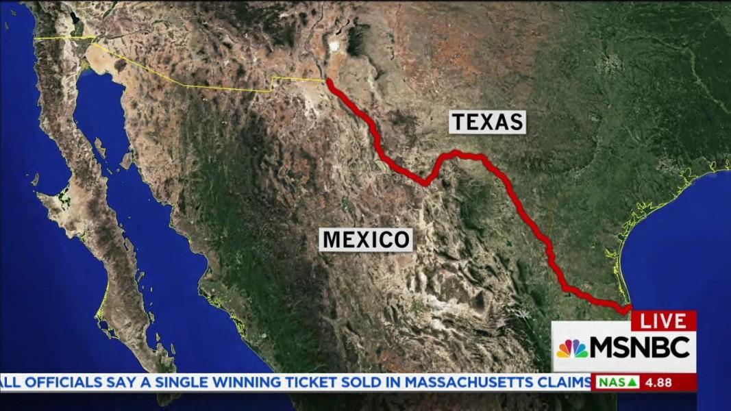 Landowners In Texas React To Trumps Border Wall NBC News - React us heat map