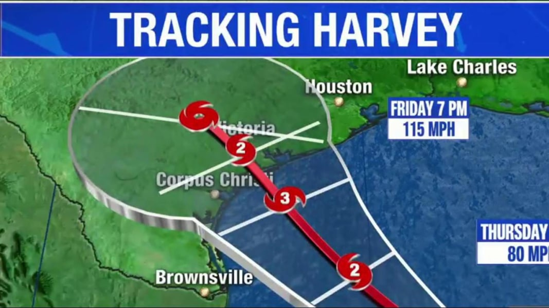 Trump asks to plan ahead as Hurricane Harvey intensifies