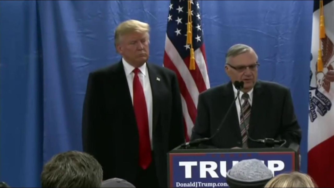 Trump defends Arpaio pardon: 'He was treated unbelievably unfairly'
