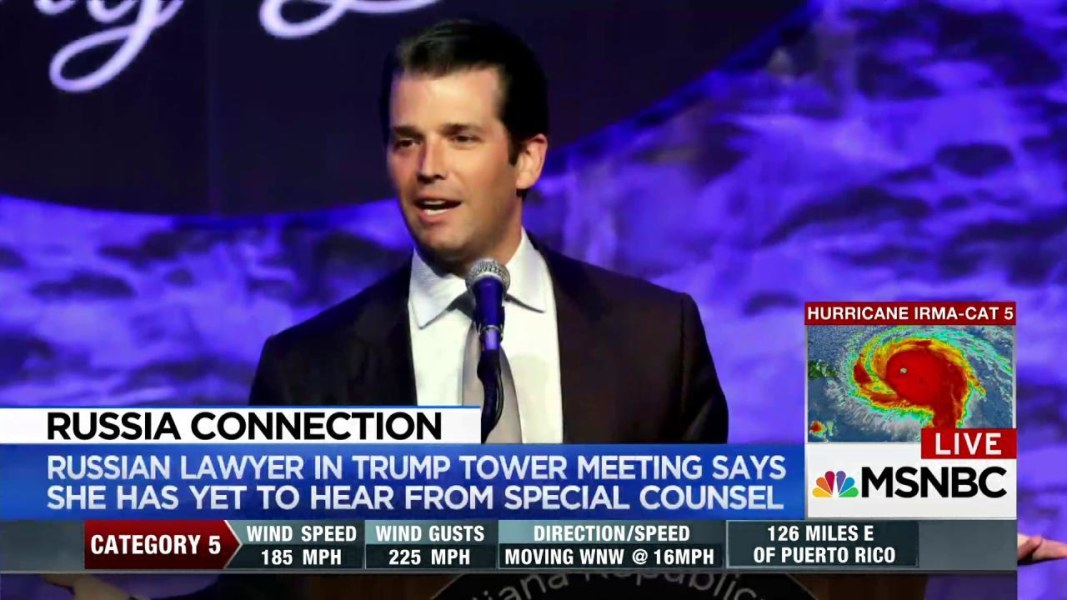 Donald Trump Jr grilled in Russian probe