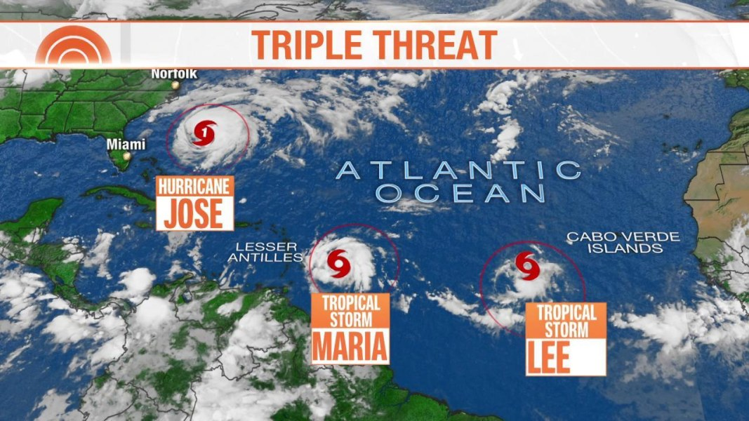 3 named storms brewing in the Atlantic - NBC News