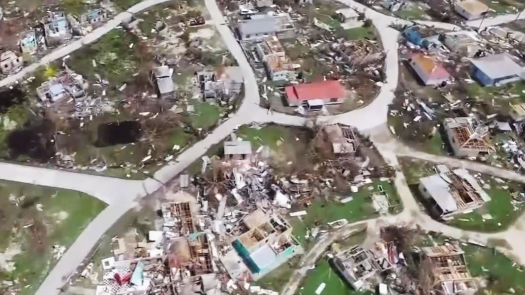 Aerial Video Shows Hurricane Irma Caribbean Aftermath