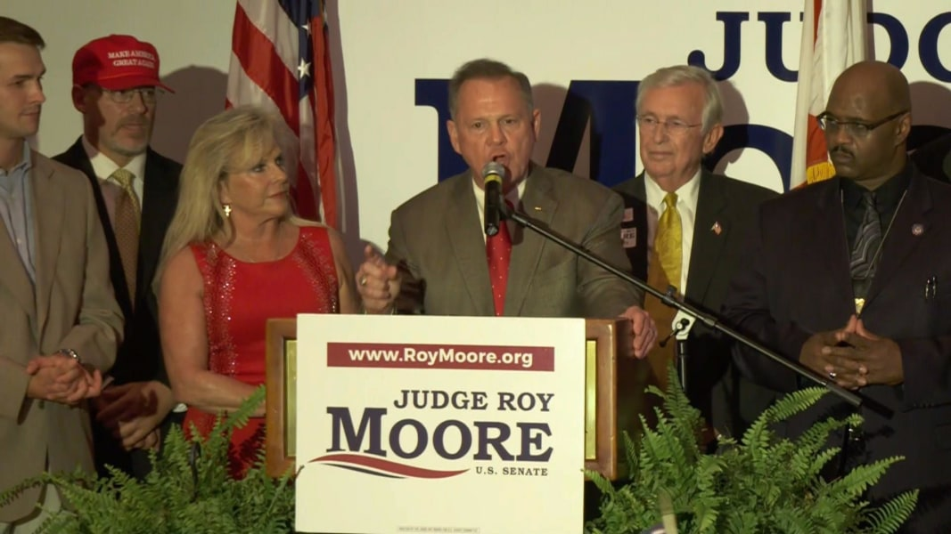 Image result for trump roy moore