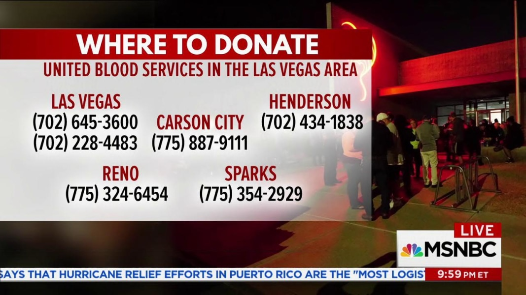Lines to donate blood in Las Vegas are six hours long